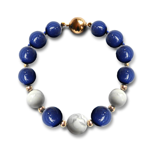 Lapis and Howlite Bracelet