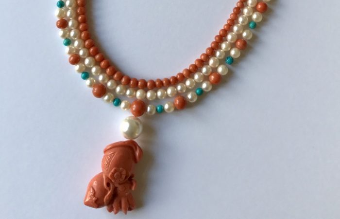Red Coral Necklace Designs by Natalie Teare Bespoke Jewellery London
