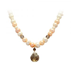 Freshwater Pearl & Smoky Quartz Necklace