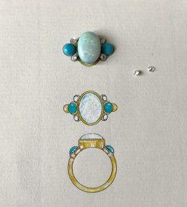 opal ring design