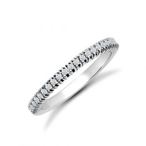 Platinum, Diamond Half-set Ring