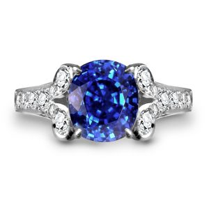 best coloured stone engagement rings