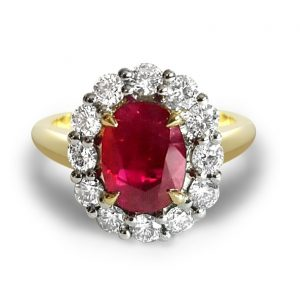 ruby stone engagement ring