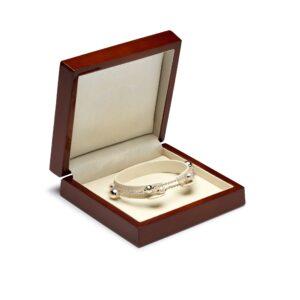 Silver pearl 2 Row Bracelet