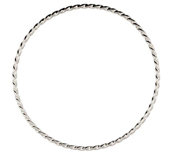 Silver Twisted Bangle